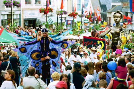 The vibrant atmosphere of Golowan Festival in Penzance